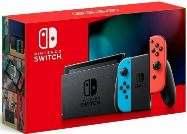 Nintendo Switch Console with Neon Red & Blue Joy-Con Vers 1.1